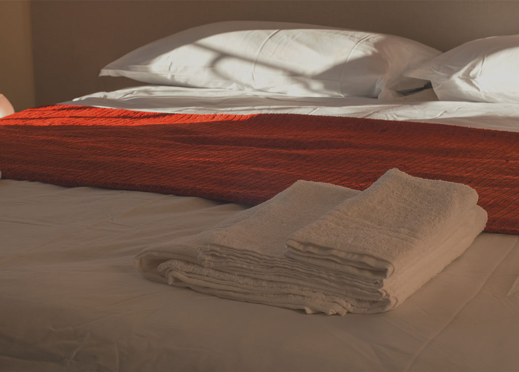 particolare della camera del bed and breakfast