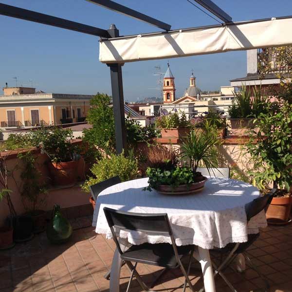 il terrazzo panoramico dove prendere la colazione la mattina